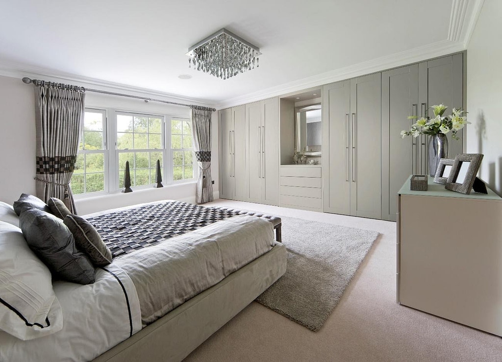 Beautiful shaker style wardrobes for the bedroom
