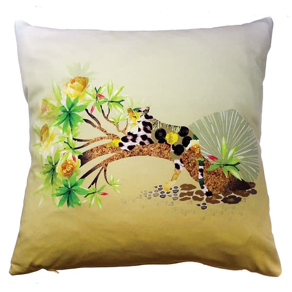 Lazy Leopard Cushion