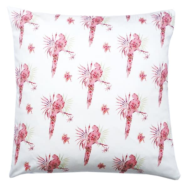 Pink Paradise Spaced Parrot Cushion