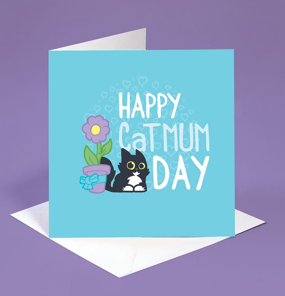 Cat mum Mothers day card card for cat mum on Mothers Day image 0