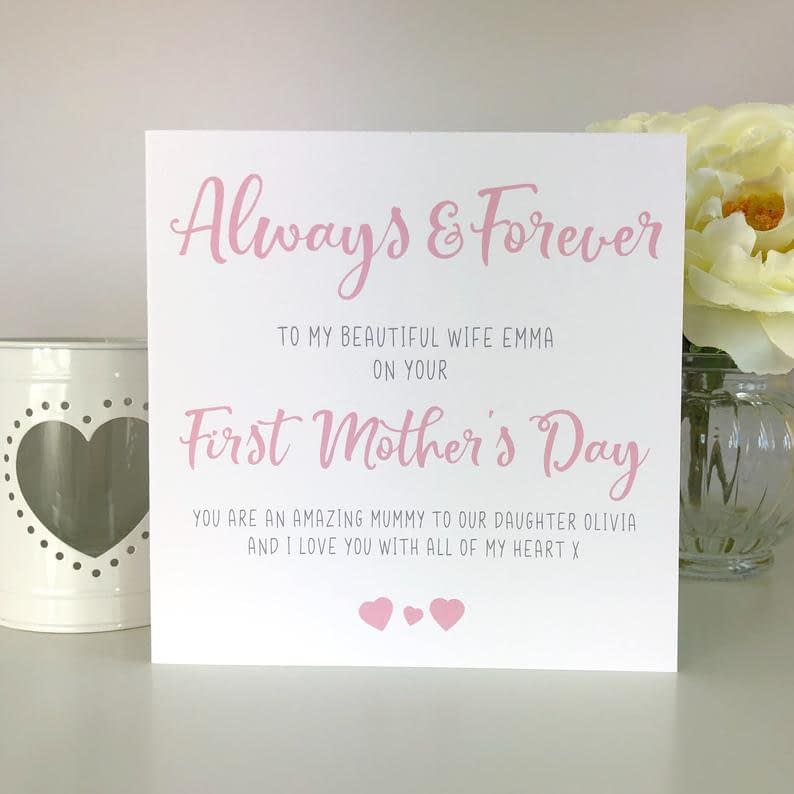 Personalised 1st Mother's Day Card First Mother's Day image 0