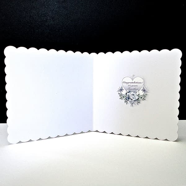 Silver Anniversary Cake Card