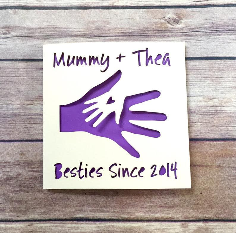 Personalised Mothers Day Card Mommy Card 1st Mother's image 0
