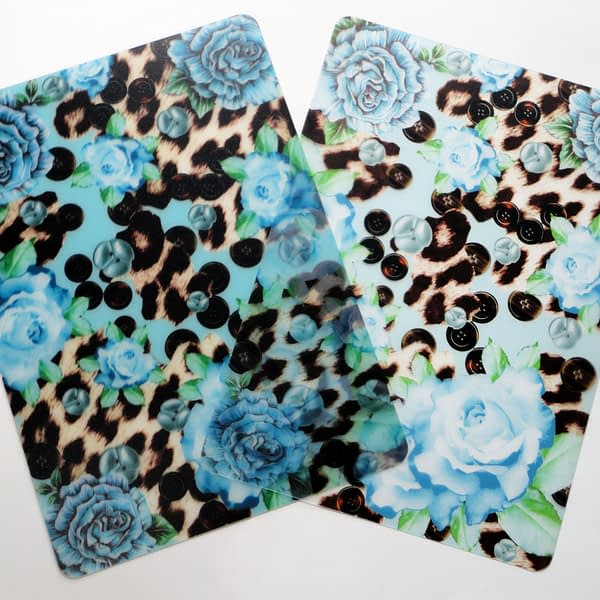 Two Blue Skin Heaven Plastic Placemats