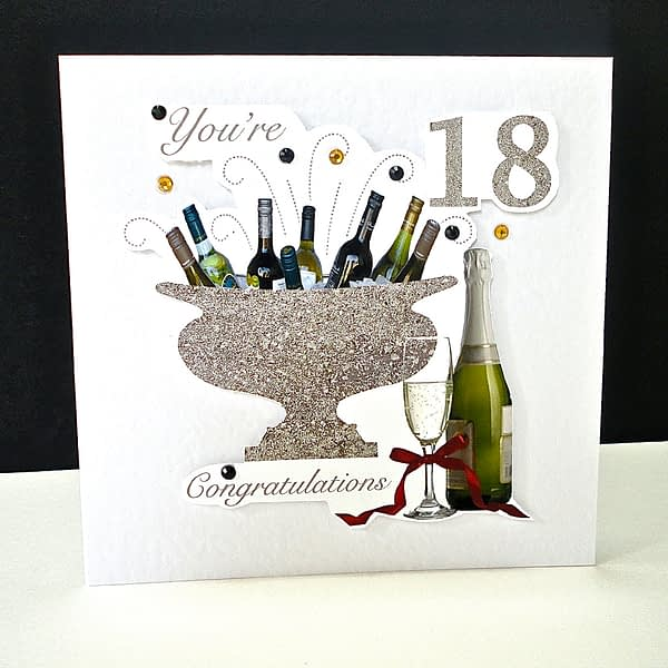 Celebration Bottles 18th Birthday Card