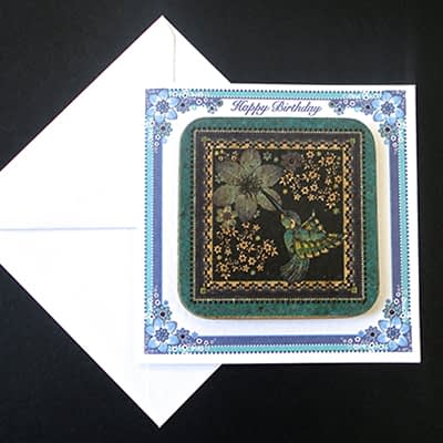 Charm of Hummingbird Coaster Card