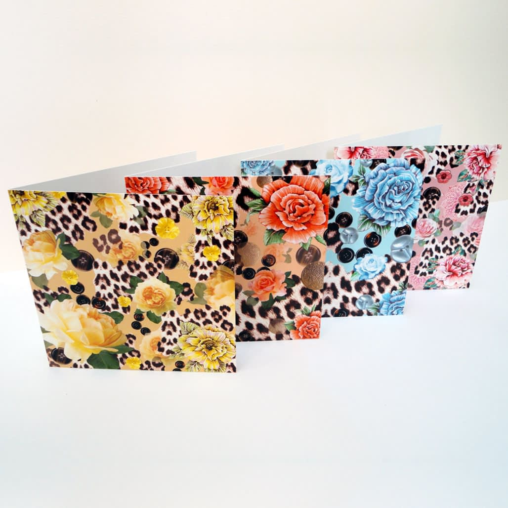Skin Heaven Display - Pack of Four Greeting Cards