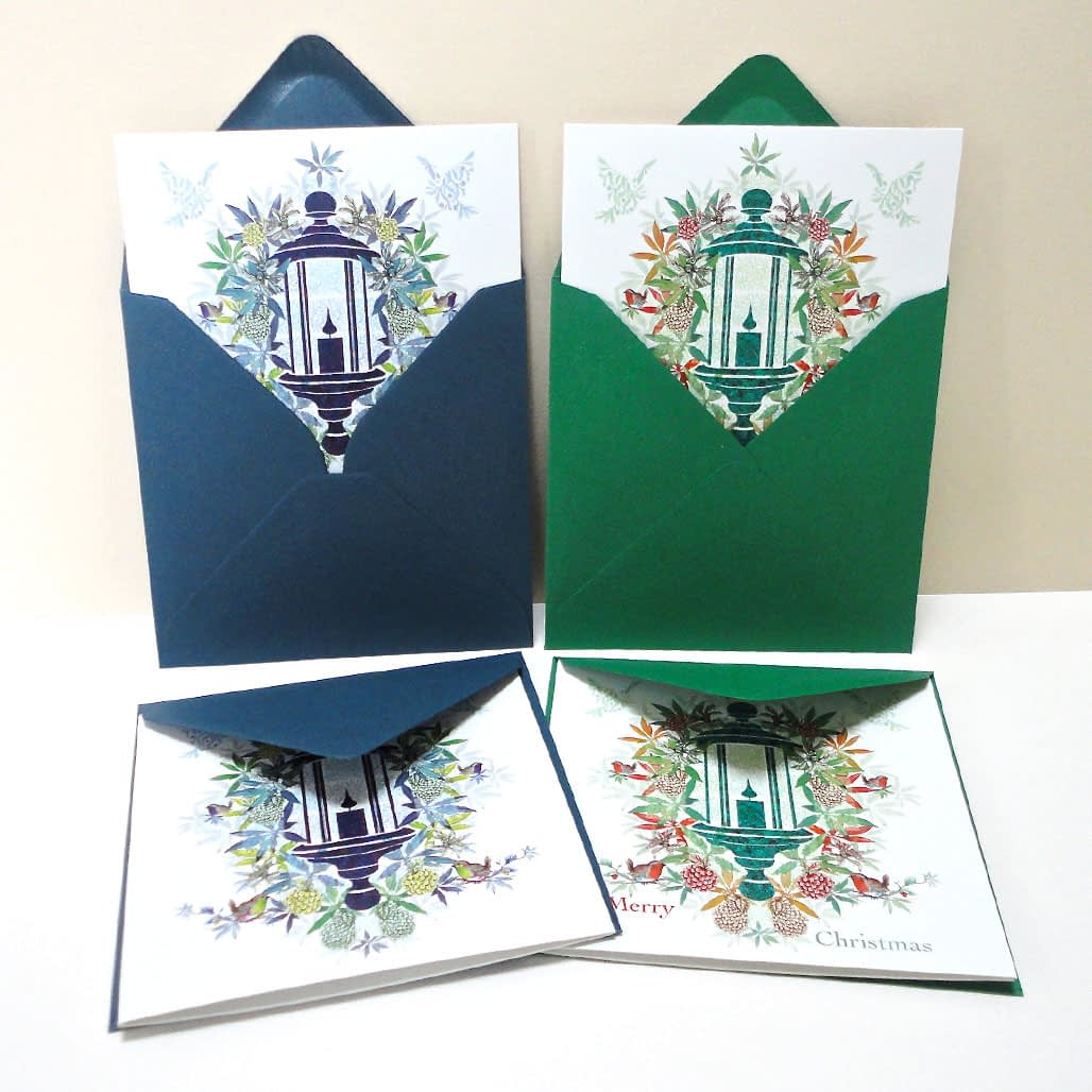 Christmas Lantern Collection - Pack of Four Cards