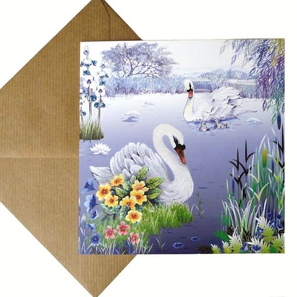 Swans Lake Card