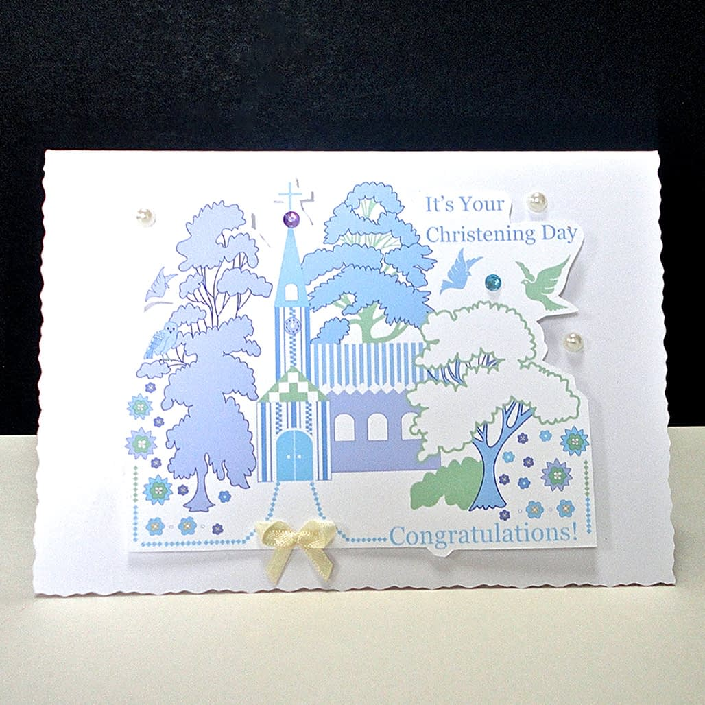 Church Christening Card
