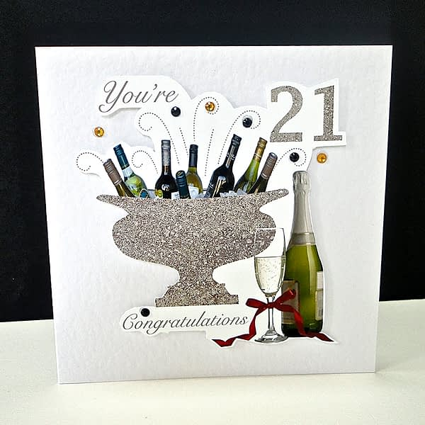 Celebration Bottles 21st Birthday Card