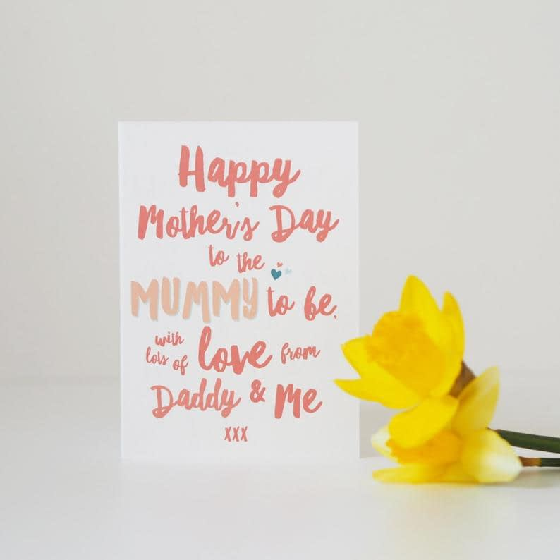 Mummy To Be Mother's Day Card Mum To Be Mother's image 1