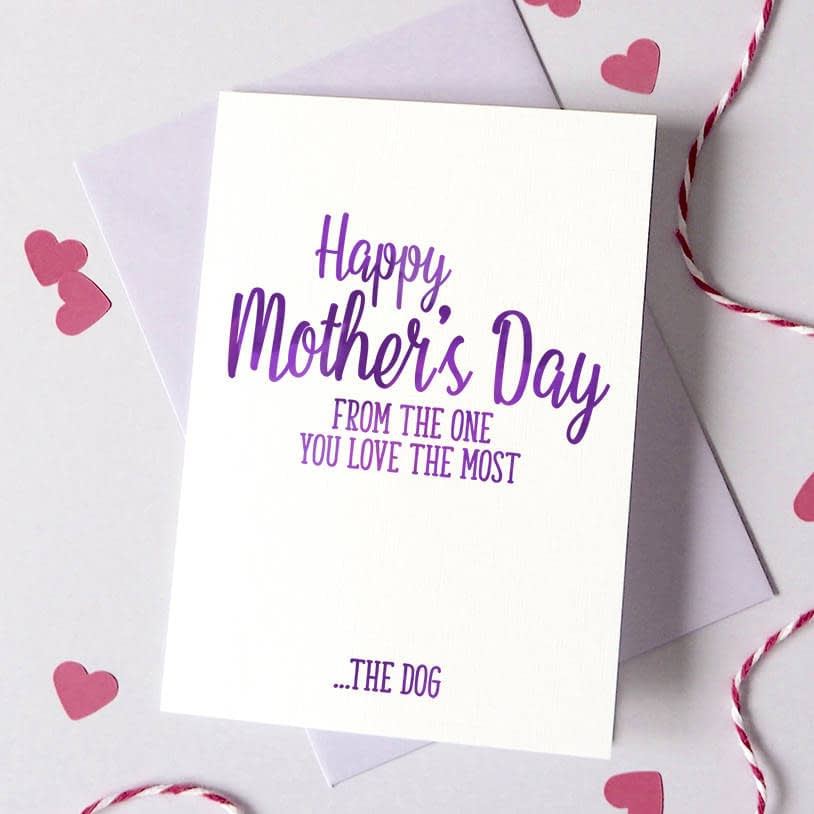 Personalised Mother's Day One You Love The Most Card