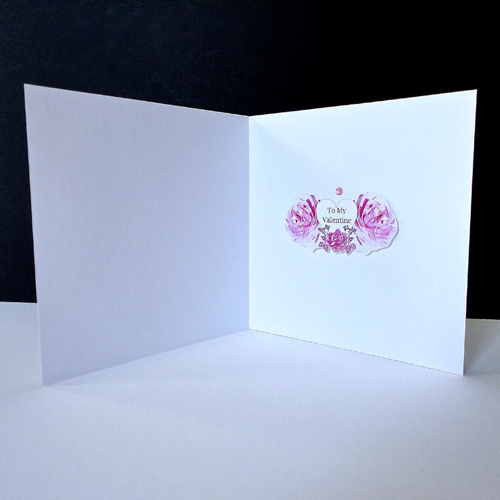 Valentine's- Pink Rose Mouse Mat and Single Card