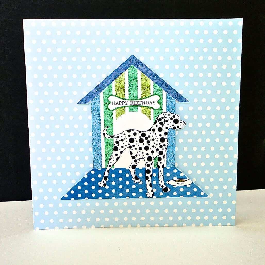 Polka Dot Dalmatian Happy Birthday Card