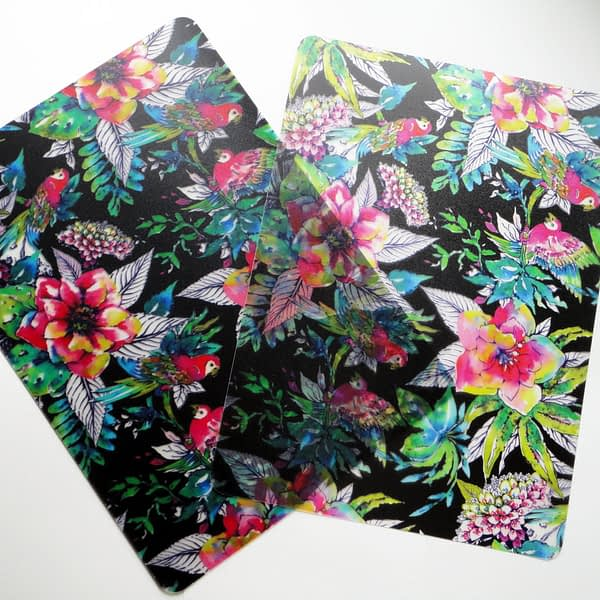 Two Company of Parrots Plastic Placemats
