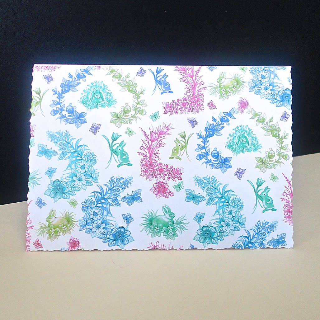 Easter Rabbit Toile Card
