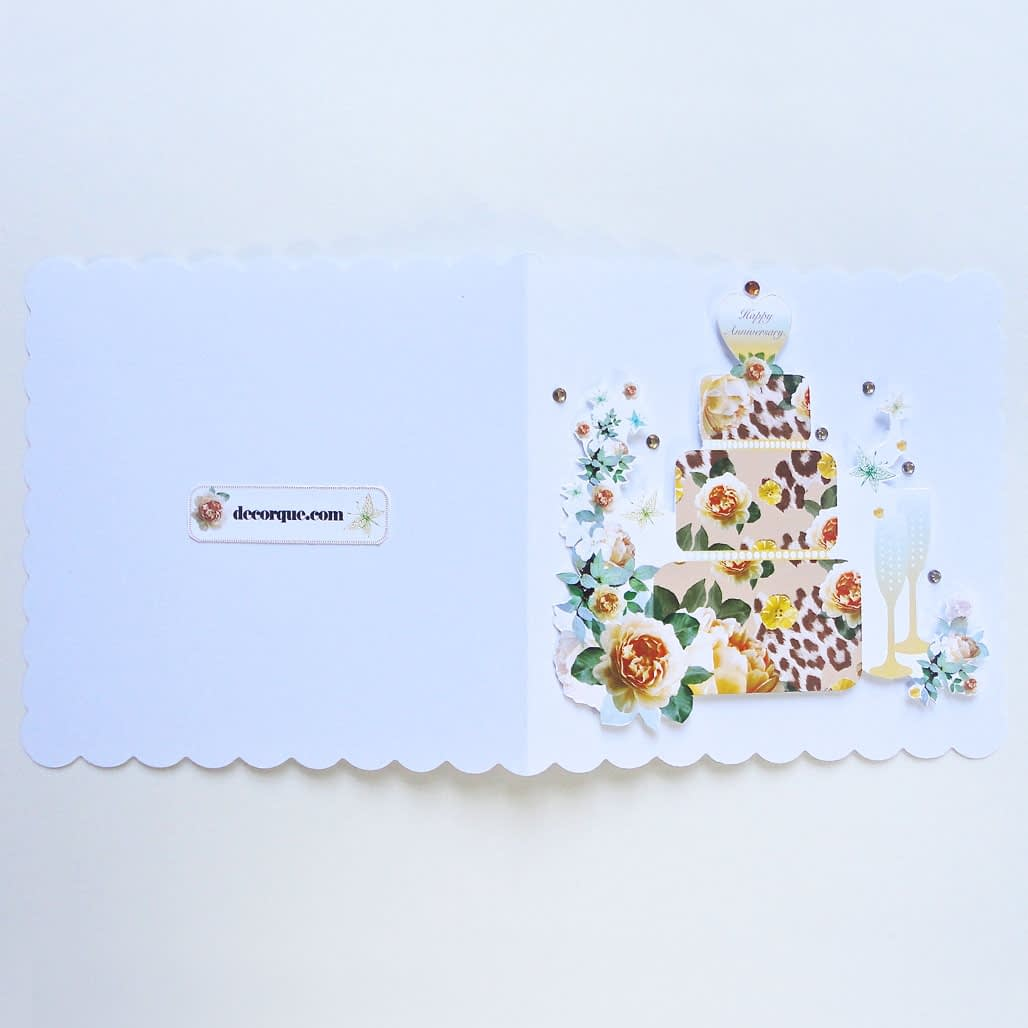 Happy Anniversary Handmade Yellow Rose Card
