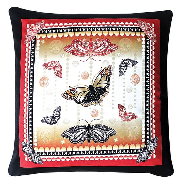 Red and Black Butterfly Cushion