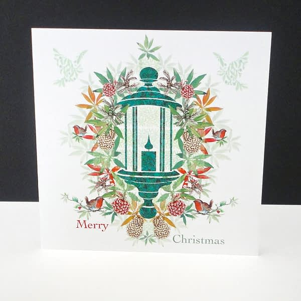 Christmas Day Lantern Single Card
