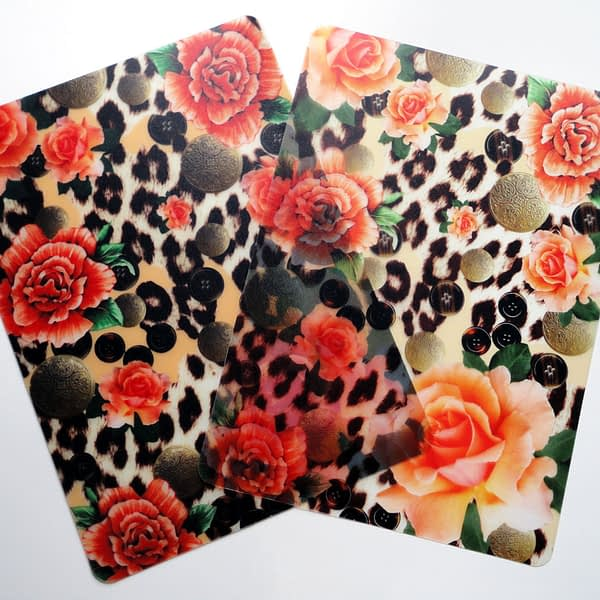 Two Orange Skin Heaven Plastic Placemats