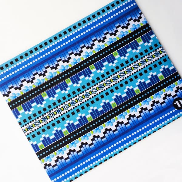 Mouse Mat - Geometric Blue Stripe