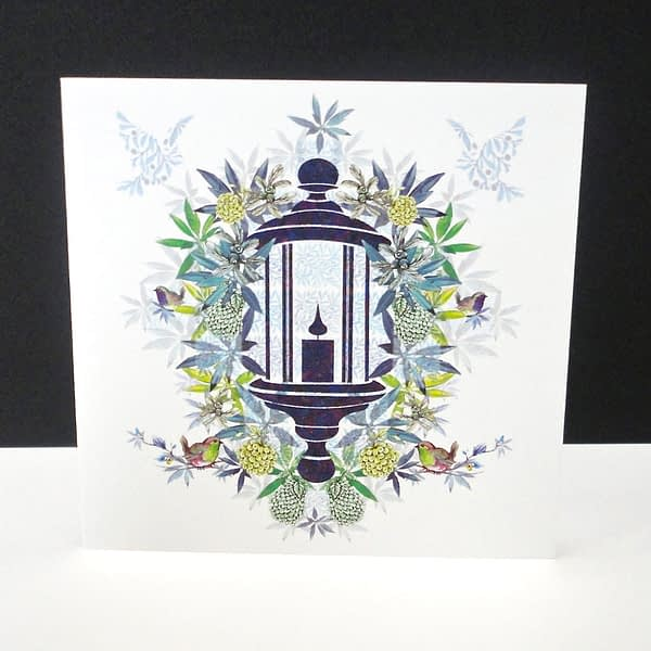 Christmas Morning Lantern Single Card