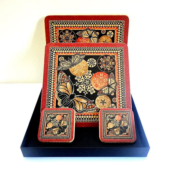 Red and Black Butterfly Duo Cork Gift Set