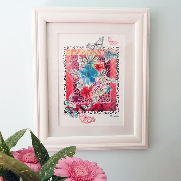 Hot Skin A4 Framed Art Print