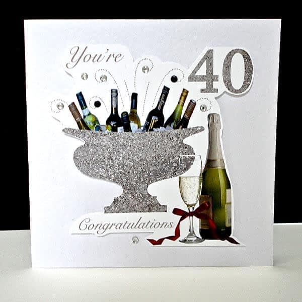 Celebration Bottles 40th Handmade Birthday Card
