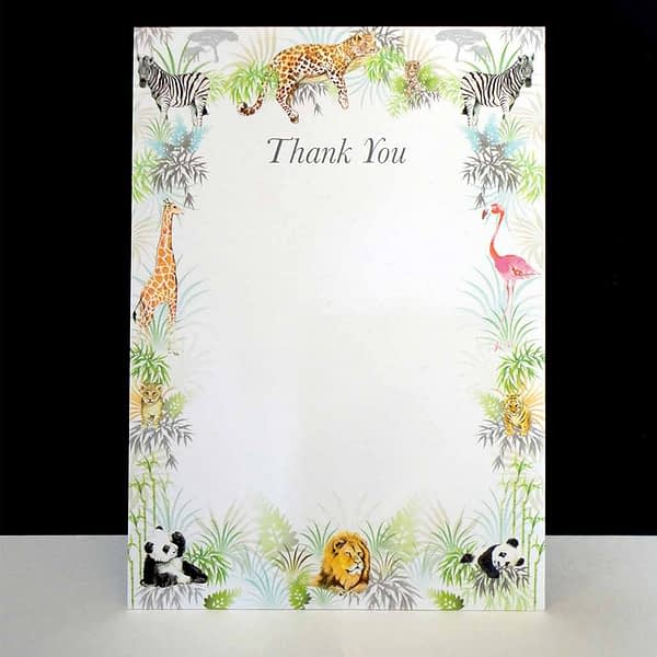 Safari Into The Wild - Pack of Six Thank You Cards