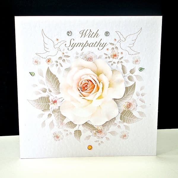 Rose and Doves Sympathy Card