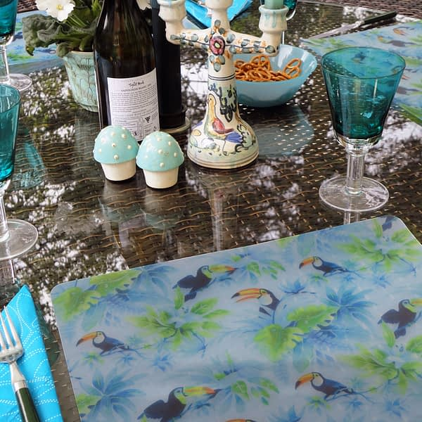 Two Tropically Toucan Plastic Placemats