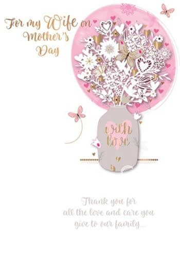 Happy-Mother-039-s-Day-Card-To-My-Wife-Handmade-Greeting-By-Talking-Pictures
