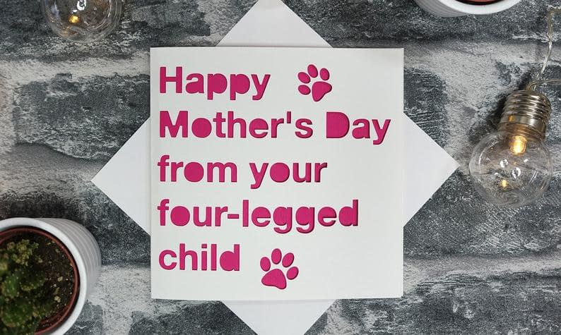Mother's Day Pet Pets Card From the dog cat fur baby image 0