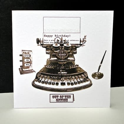 Decorque Typewriter Card