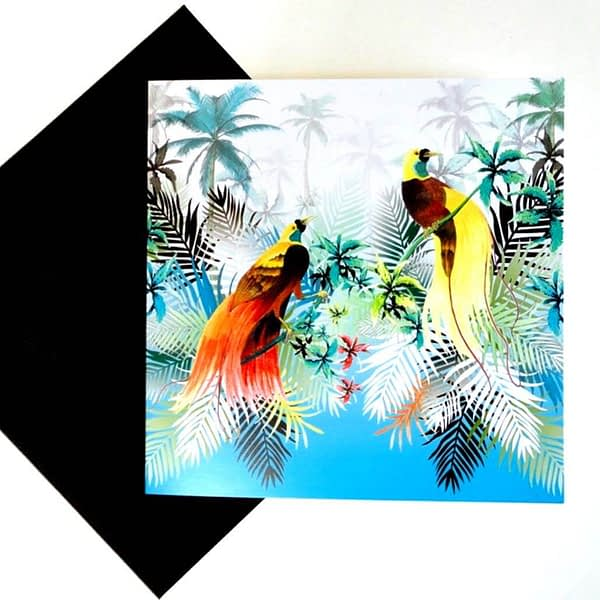 Birds of Paradise Card.