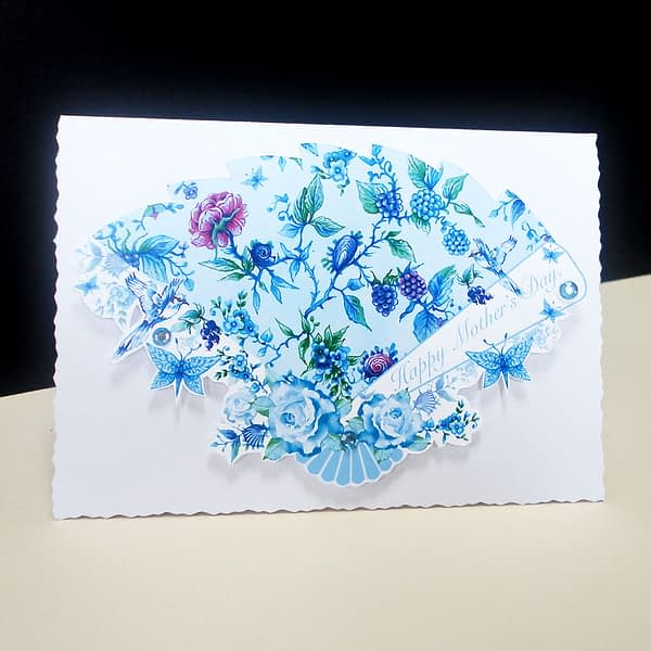 Chintz Anglais Fan Handmade -Mother's Day Card