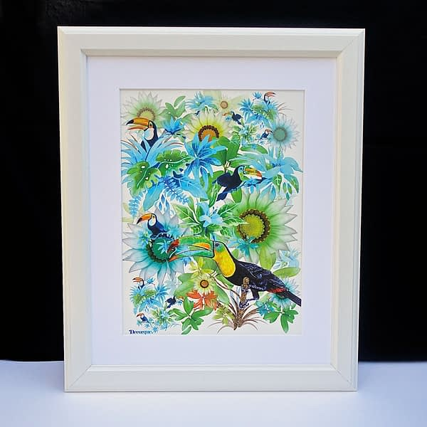 Tropically Toucan A3 Art Print