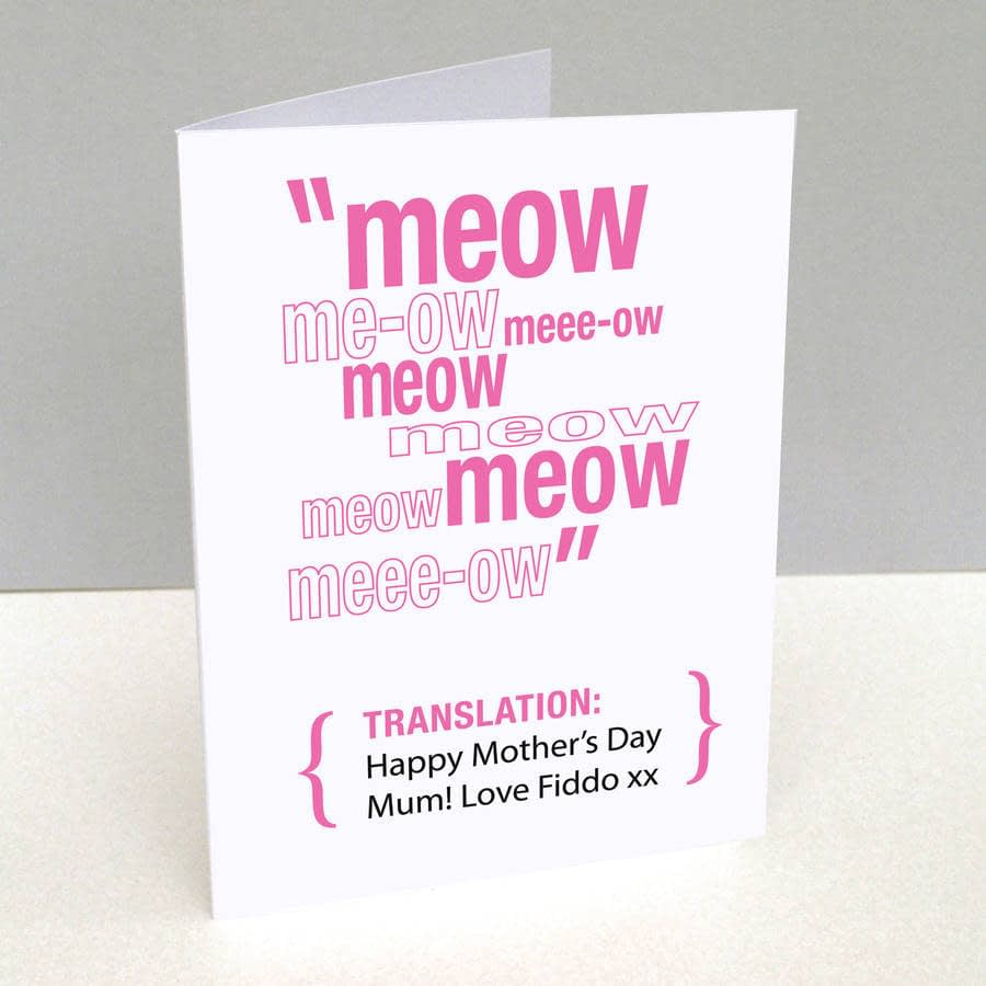 mothers day pet dog card cat daughter