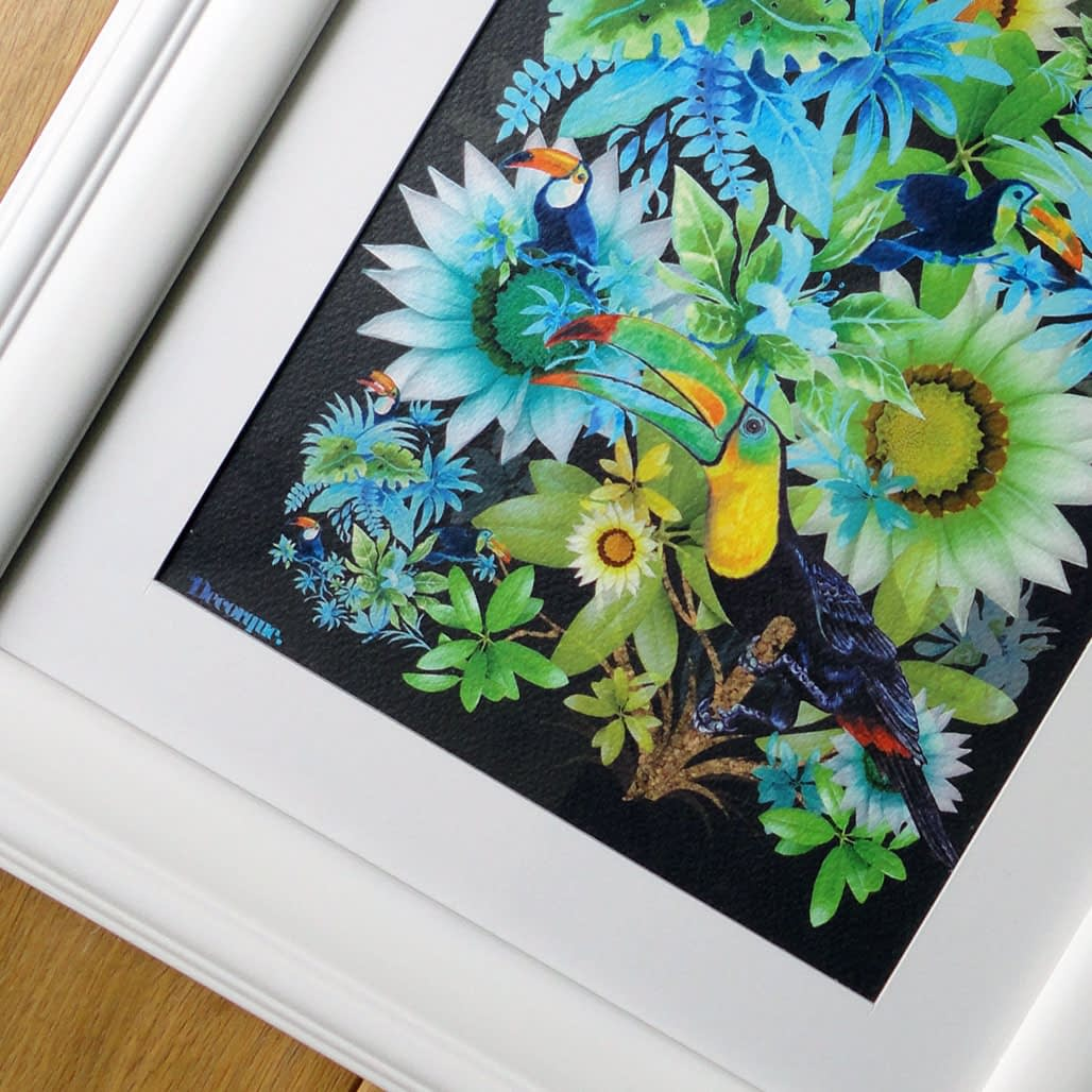 Tropically Toucan A4 Framed Art Print