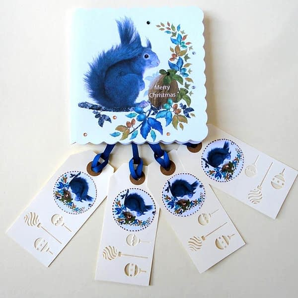 Grey Squirrel-Christmas Tags