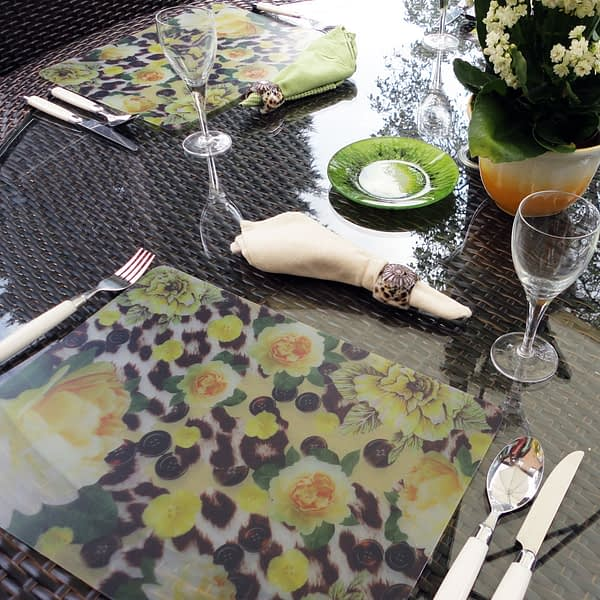 Two Yellow Skin Heaven Plastic Placemats