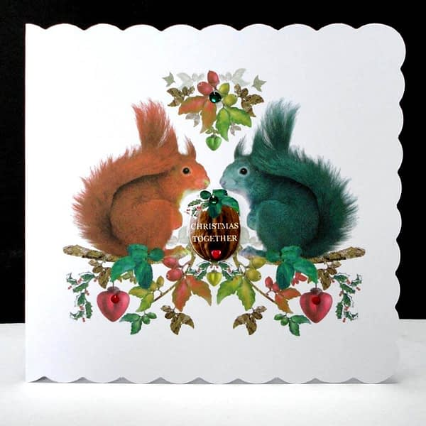 Squirrels Christmas Together Handmade Card