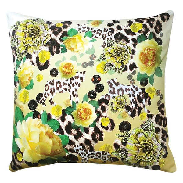 The Yellow Skin and Rose Duo Cushion