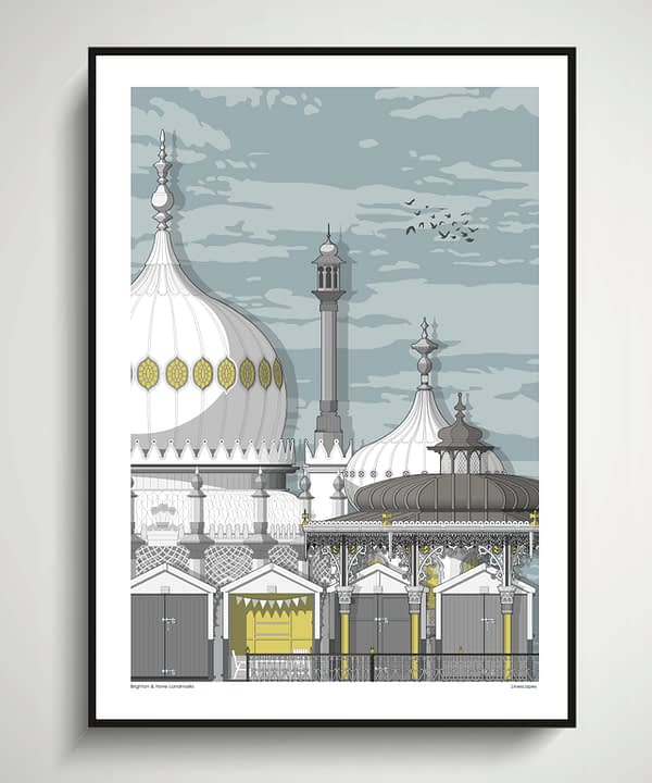 Brighton posters and prints depicting the seaside town's iconic architectural gems.