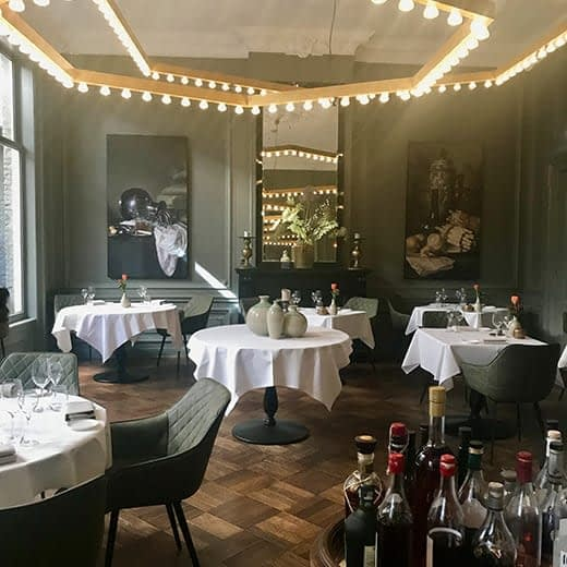 The dining room of the ML Hotel in Haarlem, Telescope Style Holland in Springtime blog.