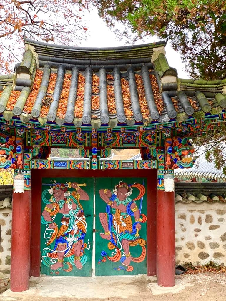 These beautiful, Korean temple gates inspired our red living room ideas interior scheme mood board.