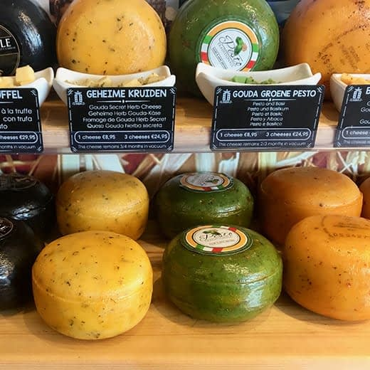 Delicious cheeses in Gouda, Holland, Telescope Style blog.