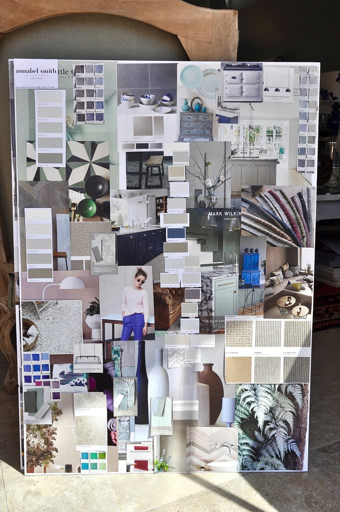 Create a modern, interior design moodboard as a lockdown decorating project.